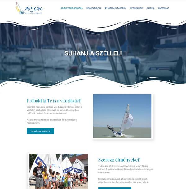 apjok-weboldal-keszites