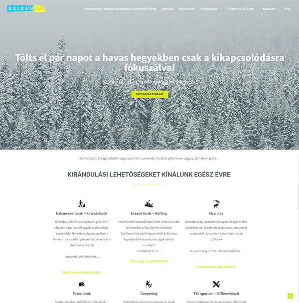 balkanfan-weboldal-keszites